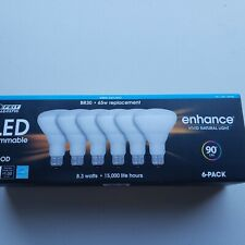Feit Electric Dimmable Led BR 30 Flood 65W 2700K Soft White, 6 Count