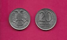 RUSSIAN FEDERATION 20 ROUBLES 1992LMD  UNC DOUBLE-HEADED EAGLE,ALTERNATING REEDE