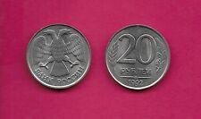 RUSSIAN FEDERATION 20 ROUBLES 1992LMD  UNC PLAIN EDGE,DOUBLE-HEADED EAGLE,VALUE