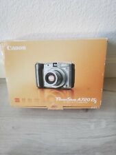 Canon Powershot A720 IS DIGITAL CAMERA TESTED W/ ORIGINAL BOX, MANUAL & SD Card
