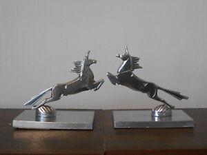 MORANTE -  Anciennes Sculpture Mascottes  Serre Livres Art Deco en Bronze