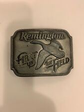 Vintage Remington Arms First In The Field Canada Goose Hunting Belt Buckle