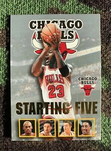1996-97 NBA Hoops MICHAEL JORDAN *STARTING FIVE* 🔥Insert #4 Rare Grey GOLD Foil
