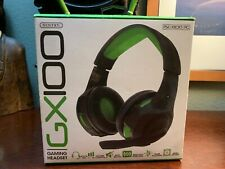 Sentry Industries GX100: Gaming Headset GREEN. XBOX PS4 PC PHONES TABLETS