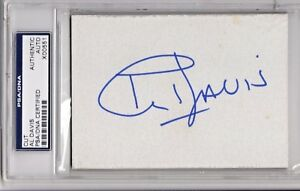 Al Davis signed index card, authenticated & encapsulated by PSA/DNA