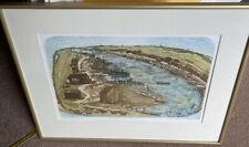 "GLYNN THOMAS RE b1946 Artist's Proof ETCHING ""Walberswick Ferry"""