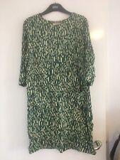 Stunning Green Tunic Shift Dress By Marlene Birger Size EU 40 U.K. 12