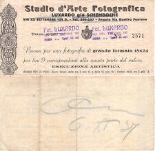 FUTURISMO STUDIO D'ARTE FOTOGRAFICA LUXARDO BUONO PER RITIRO FOTOGRAFIA TIMBRO