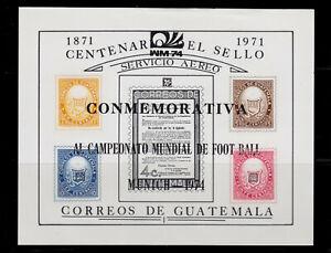 1974 GUATEMALA 1974 FIFA World Cup GERMANY MUNICH S.S. NH -  SCT.C458A MI.BLK15