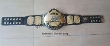 WWF Kids Size Winged Eagle Wrestling Championship 2mm Metal Replica Belt