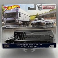 2020 Hot Wheels Car Culture Team Transport #21 Mercedes-Benz 300 SL Euro Hauler