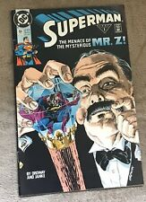 1990 Superman Comic Book The Menace of The Mysterious Mr Z Issue 51 8 Very Fine