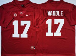 Men's Alabama Crimson Tide #17 Jaylen Waddle Red Jersey Stiched Custom Jersey