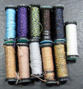 11x Needlepoint/Embroidery THREAD KREINIK 12 Braid metallic-mixed-ZZ500