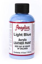 Angelus Brand Acrylic Leather Paint Waterproof Light Blue - 4.oz