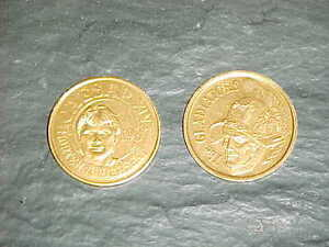 1987 Morten Andersen New Orleans Saints Gold Doubloon Football Coin