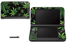 Skin Decal Wrap for Nintendo 3DS XL Gaming Handheld Sticker 12-15 WEEDS BLACK