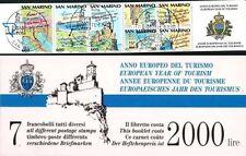 REP. DI SAN MARINO 1990 LIBRETTO 2 ANNO DEL TURISMO 7 VALORI USATO 1à SCELTA (54