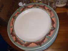 """New listing Meiwa Rare Southwestern Cactus Desert Scene Pattern 10.5"""" Dinner Plate"""