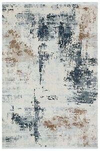 """8'7"""" x 12'0"""" ft. Trend Blue-Beige Contemporary Area Rug"""