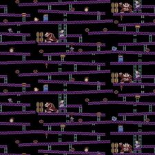 Nintendo Donkey Kong Fabric Jumpmans Ascent Video Game Fabric Cotton Springs