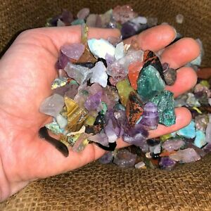 1000 Carat Lots of SMALL Natural Tumble Rough -VERY Nice + FREE Faceted Gemstone
