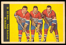 1960 61 PARKHURST HOCKEY #56 BILL HICKE RALPH BACKSTROM AB MCDONALD EX CANADIENS