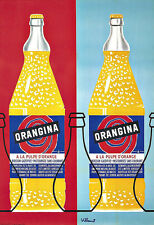 Art Publicitaire ORANGINA boissons verre deco Poster Print