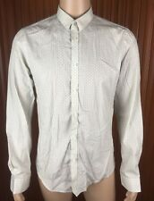 (Used) Mens Ben Sherman Long Sleeve Button Front Shirt Size: M Geometric Pattern