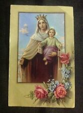 Virgin Mary & Baby Jesus 1974 Catechism Card