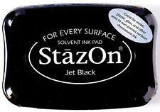 Stempelkissen Stazon Jet Black wasserfeste Stempelfarbe permanent