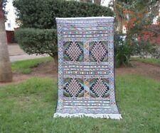 Moroccan Rug Carpet Kilim 6'4x3'5 -Kelim Berber Handmade Woven Atlas, Azilal rug