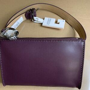 REBECCA MINKOFF Purple Leather Belt Bag Zipper Size M Medium NWT Msrp $78