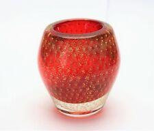 Barovier & Toso Murano Vario Glas Feuerzeug oder Vase mit Label