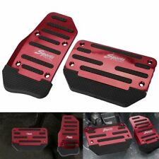 New ListingUniversal Red Non-Slip Automatic Pedal Brake Foot Treadle Cover Accessories Kit