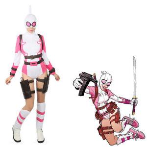 Gwenpool Costume Comic Gwen Poole Halloween Cosplay costume Suit custom made: