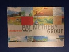 Pat Metheny Group Speaking Of Now World Tour Backstage Pass