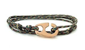 Maritimes Edelstahl Brummel Armband- Paracord Armband-Verstellbar-Camo Pattern
