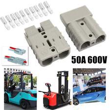 5Pcs 600V 50A 50Amp Grey Plug Connector Carvan Charger Battery for 12v or 24v