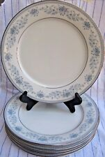 """Lot 6 Noritake BLUE HILL Dinner Plates 10.5"""" Contemporary China #2482"""