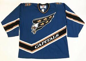 CCM Washington Capitals Screaming Eagle NHL Hockey Jersey Man XL Blue Sewn blank