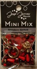 Jesse James Mini Mix Bead Set STRAWBERRY RHUBARB 9737 Bead Mix FREE US SHIPPING
