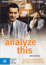 Analyze This - Comedy - Robert De Niro, Billy Crystal, Lisa Kudrow - NEW DVD