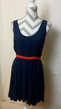 BB DAKOTA NAVY BLUE & RED BACKLESS FIT & FLAIR TANK DRESS SLEEVELESS SIZE 10 A24