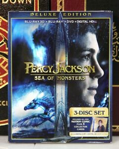 PERCY JACKSON  3D SEA OF MONSTERS -- BLU-RAY w SLIPCOVER + DIGITAL -I SHIP BOXED