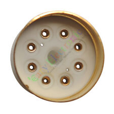 10pc 8Pin Gold Bakelite Vacuum Tube sockets base Fr 6L6 El34 Kt88 audio Hifi Amp