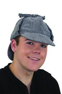 Costume Accessory- Sherlock Detective Deerstalker Cap Hat