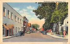 Walterboro South Carolina Washington Street Linen Antique Postcard K15199