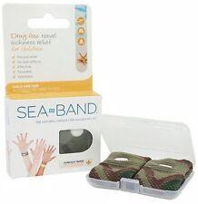 1 Pair Sea-Band Anti-Nausea Kids Wrist Bands for Travel & Motion Sickness CAMO