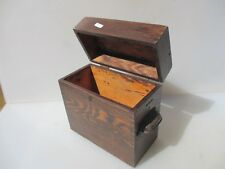 Vintage Wooden Box Pine Hardware Iron Handle Storage Old Antique